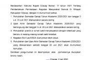 Pengumuman Berdasarkan Instruktur Bupati Cilacap Nomor 17 tahun 2021 Tentang Pembatasan Kegiatan Masyarakat Darurat di Wilayah Kabupaten Cilacap