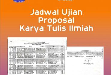 Jadwal Ujian Proposal KTI